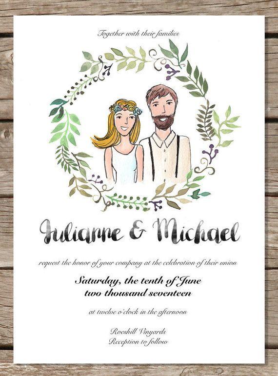 Wedding Invitation Printable Template Custom by HappyLittleGrape