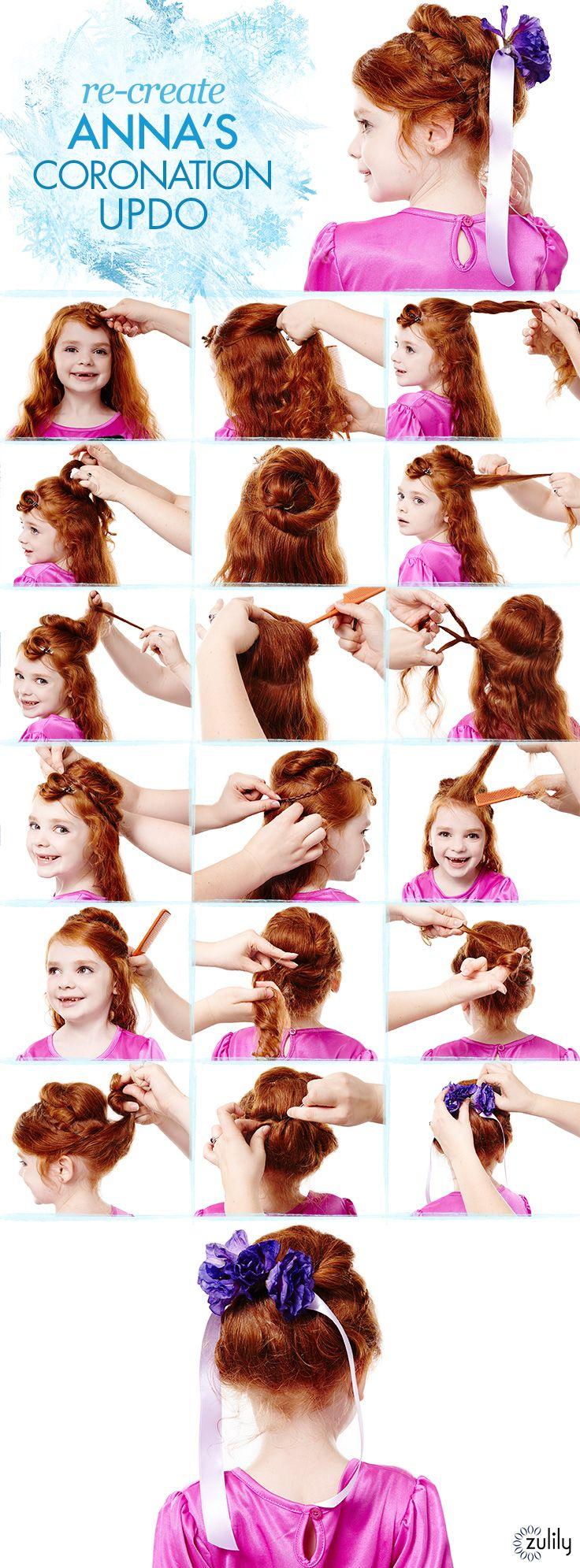 Frozen hair tutorial: Anna's coronation updo #Frozen #hairstyles #zulily