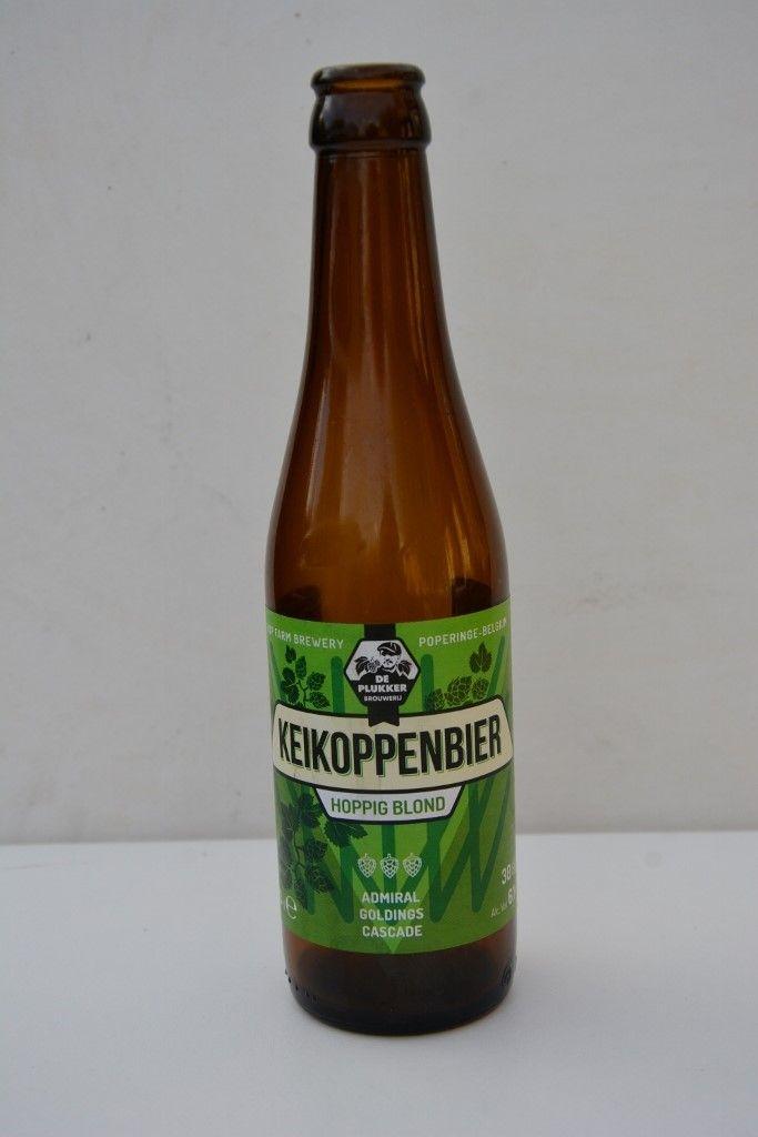 Keikoppenbier - Farm brewery De Plukker, Poperinge, Belgium 6.1% Alc. vol. - Hops used: Admiral, Goldings, Cascade.