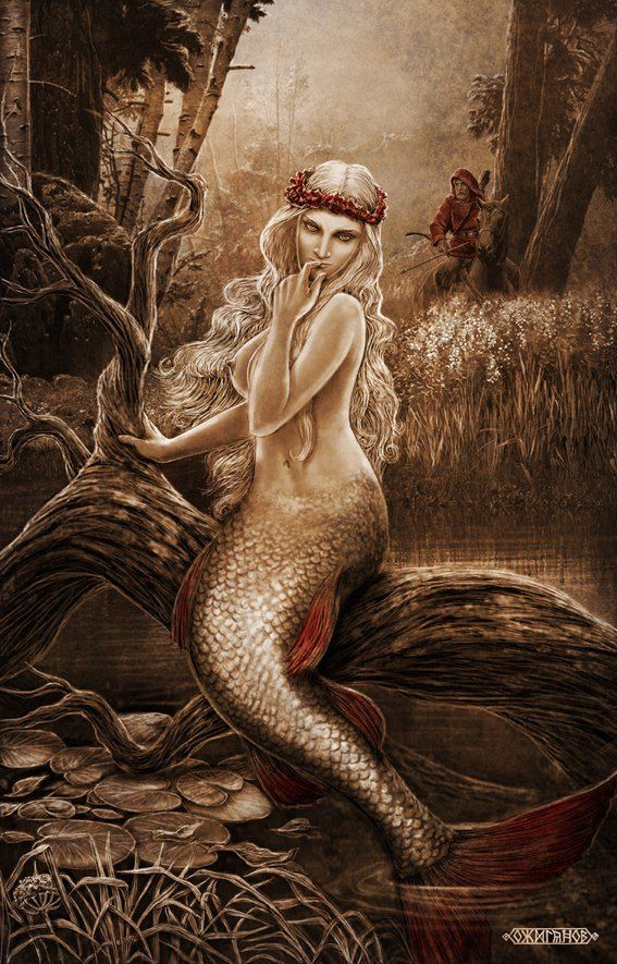 Rusalka is a water nymph, a female spirit in Slavic mythology. She is the equivalent of a Mermaid!Slavic mythology by Igor Ozhiganov | Slavorum