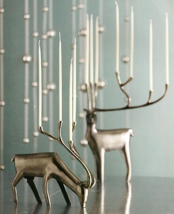 Reindeer Candle Holders | shopping list | Pinterest | Reindeer ...