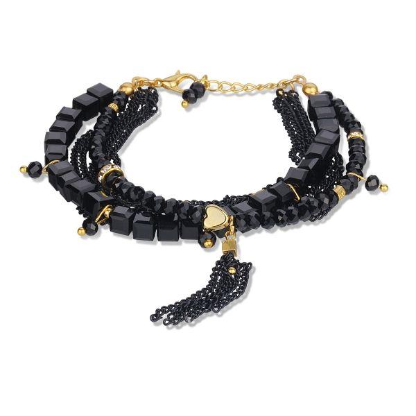 Kare Doğal Taşlı Zincir Bileklik #kare #doğal #taş #zincir #bileklik #moda #tarz #aksesuar #siyah #black #kadın #women #takı #chain #elegant #stylish  #accessory #trend