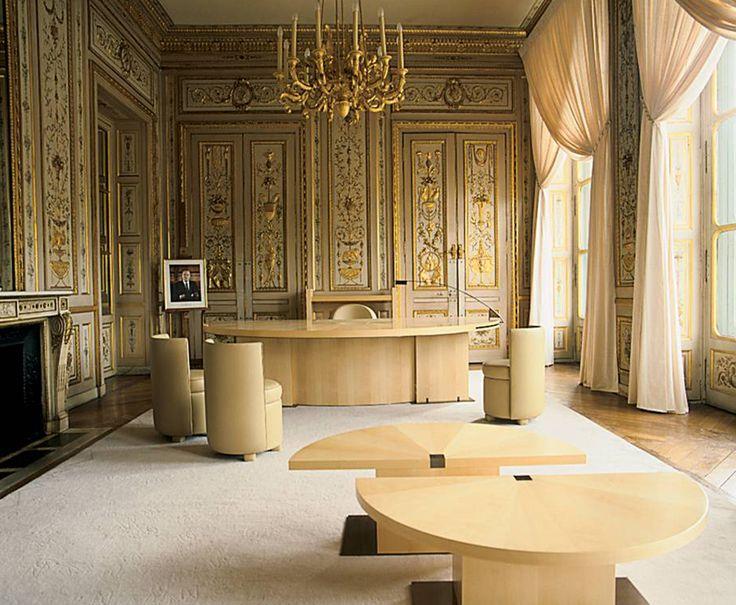Andree Putman Interiors Jack Langs Office At Ministre De La Culture Paris