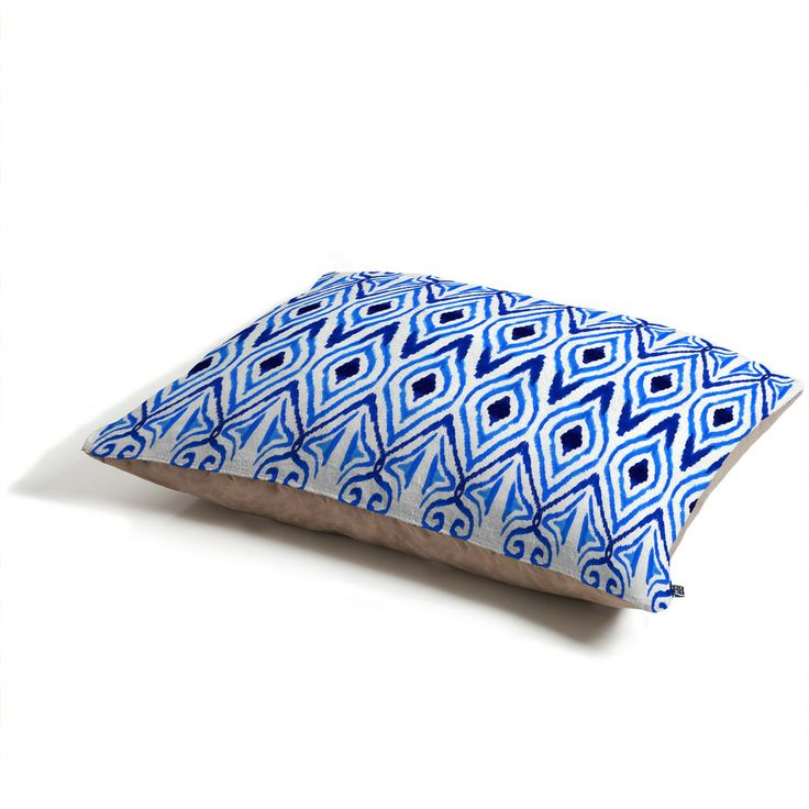 Amy Sia Ikat Blue Pet Bed   DENY Designs Home Accessories