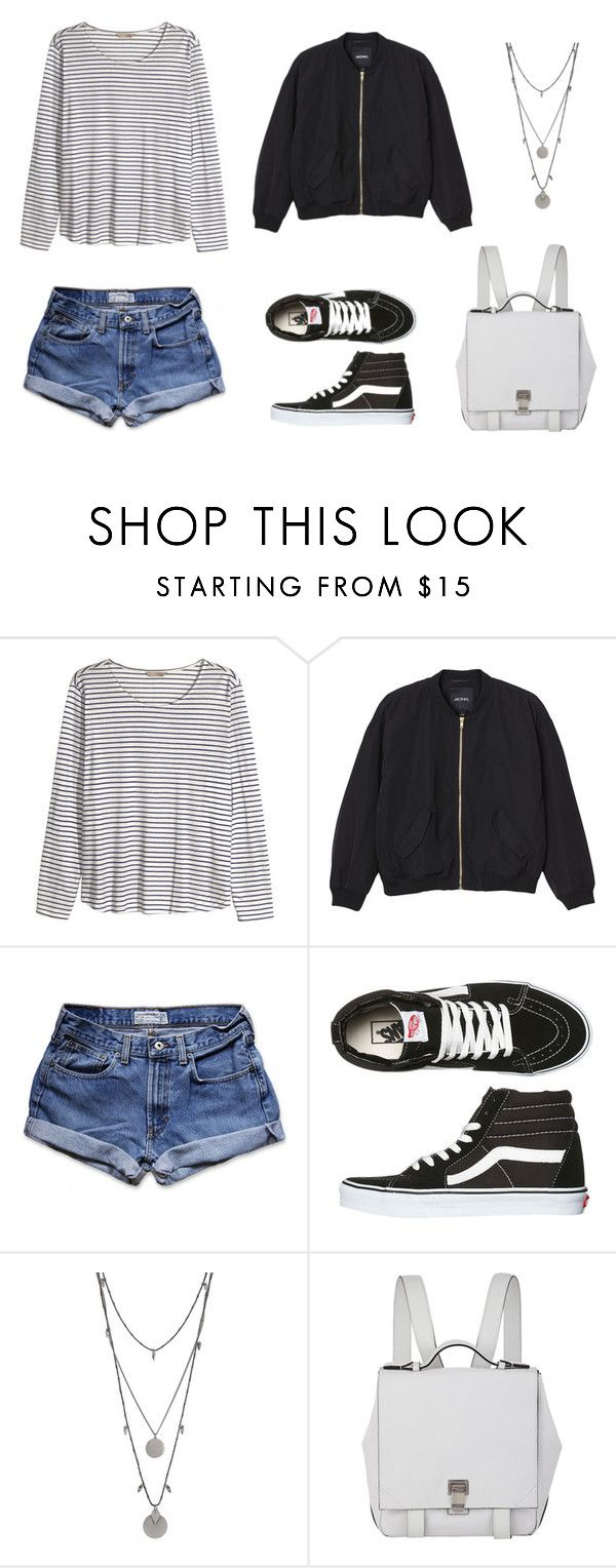 """""""Senza titolo #228"""" by helga-fly on Polyvore featuring moda, H&M, Monki, Abercrombie & Fitch, Vans, Vince Camuto e Proenza Schouler"""