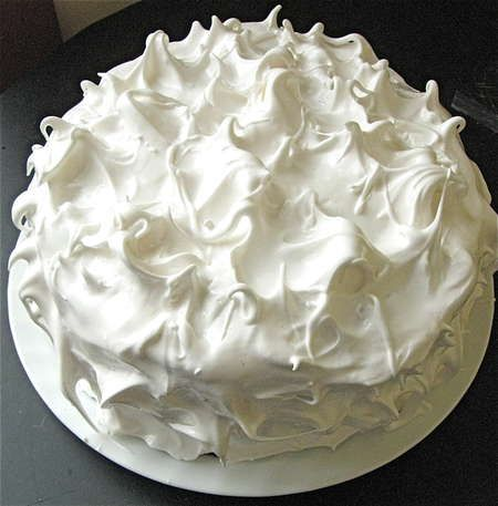 Whipped White Cake Frosting Boiled