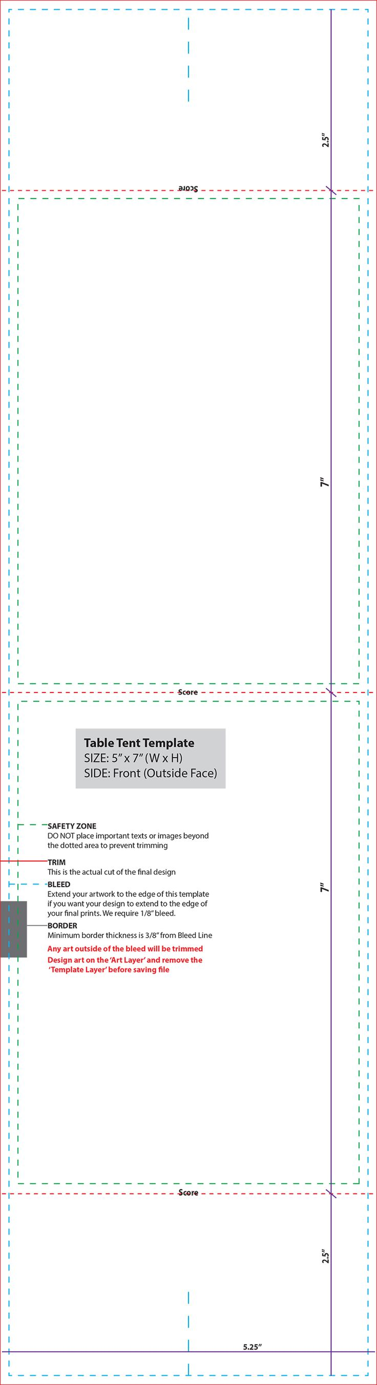 Table Tent Card Template   Picture