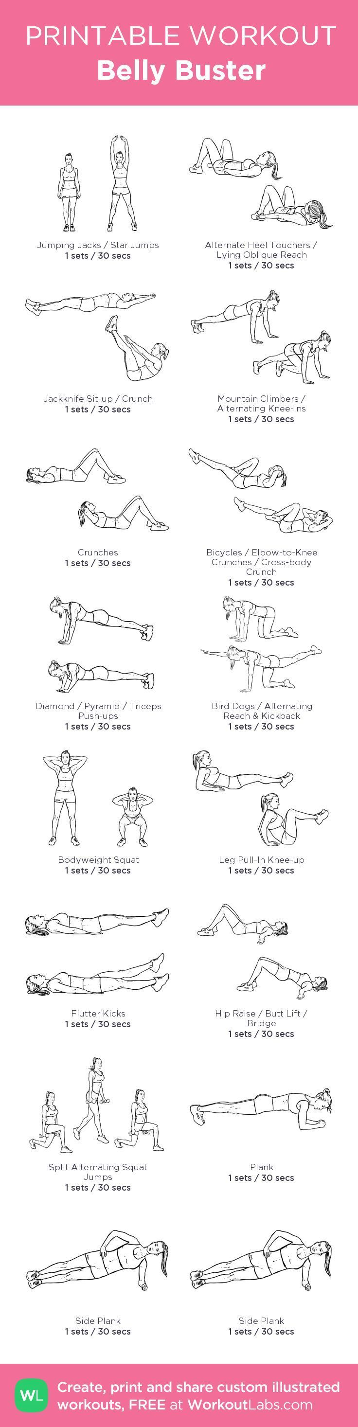 My Personal Belly Buster Workout…