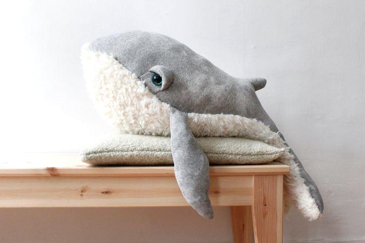 Whale Stuffed Animal Plush Toy via Handmade Childhoods: The Blog by Fleur + Dot Handmade Stuffed Animals Handmade Dolls