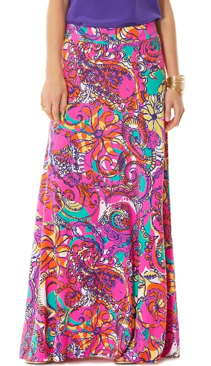 Lilly Pulitzer Beale Maxi Skirt In Sea And Be Seen Lilly