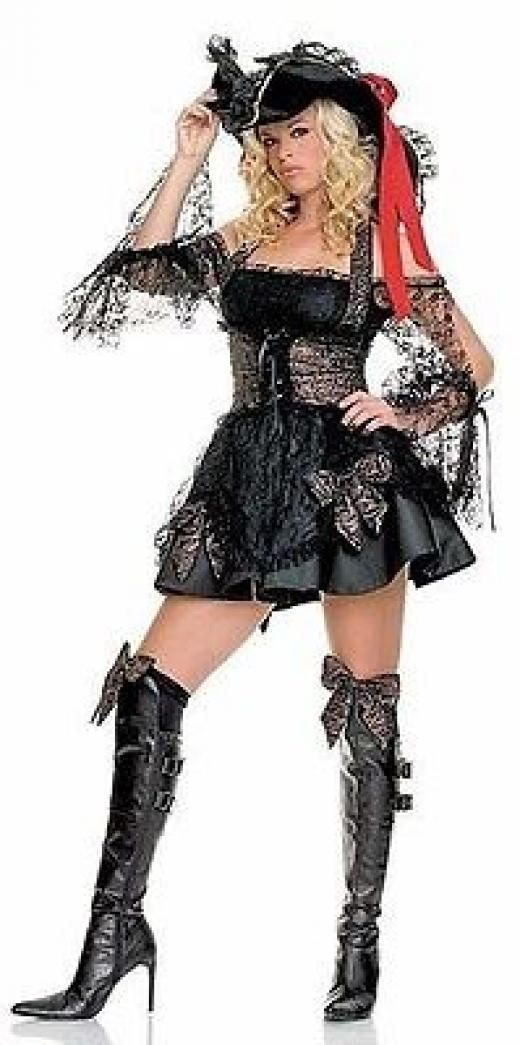 Leg Avenue New Ave Sexy Sea Wench Deluxe Adult Luxurious Pirate Costume S M L Xl Complete Multi-color Polyester Taiwan