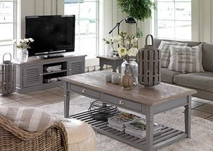 Joss and Main- Shades of Grey event! Love the coffee table, sofa and TV stand in grey! Joss & Main UK