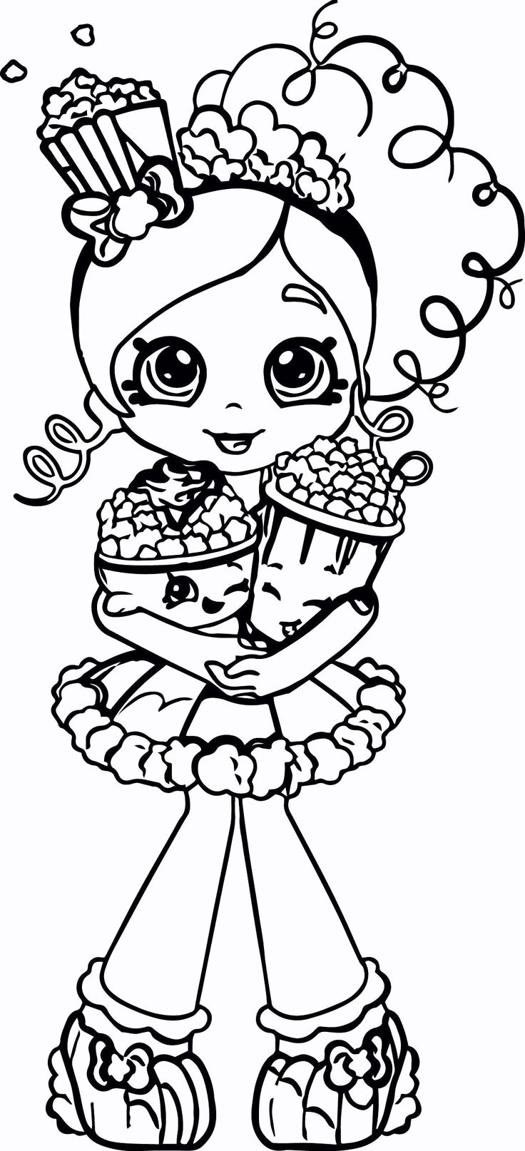 Free Shopkins Coloring Pages Printable Shopkin coloring