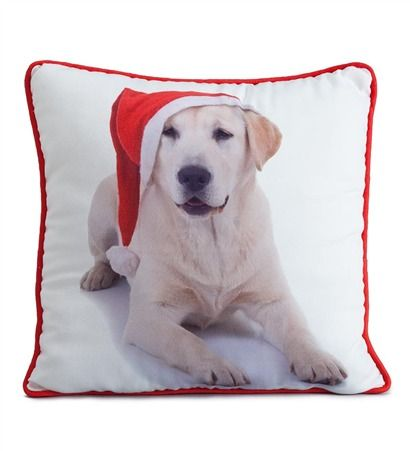 Christmas Dogs Photo-Printed Pillows in lots of breeds ...
