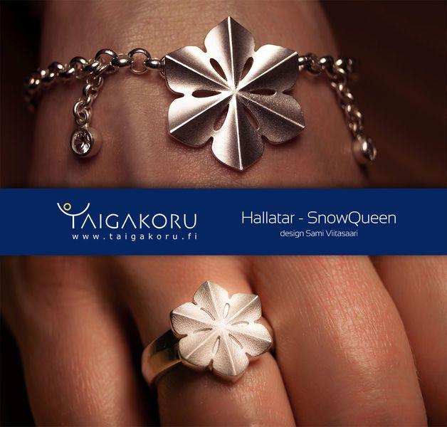 Rannekoru, Hallatar, hopeaa. Snowqueen, wrist jewelry. Design Sami Viitasaari.