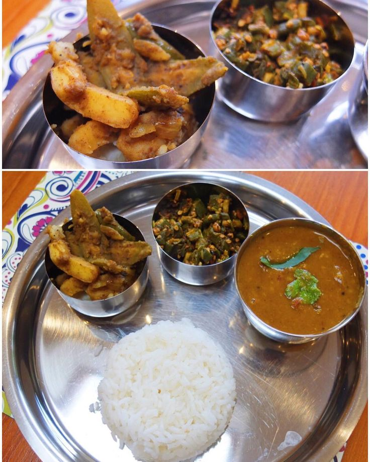 Ashtami  Sunday special: Sambhar with lots of veggies okra fry and aloo-potol (potato and wax gourd) sabzi. #HomeMade #TalesFromNW #MangiaBene