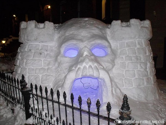 My snow fort has nothing on Castle Greyskull!