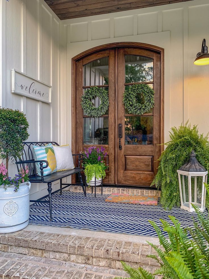 Creating The Perfect Summer Front Porch With Kirkland S Insiders Half Full Summer Front Porches Front Porch Design Front Porch Decorating