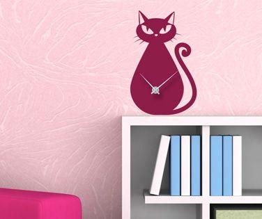 Sticker Ceas de Perete Pisicuță Punctuală. Ideal pentru camerele celor mici și pentru toți îndrăgostiții de pisicuțe. Recomandă-l prin Happy Share și primești 4% comision din vânzările rezultate.