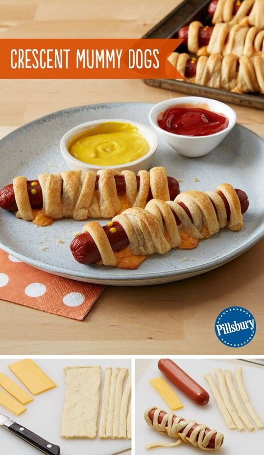 crescent mummy dogs my kids love these wwwsocialrugratscom halloween dinnerhalloween - Halloween Dinner Kids