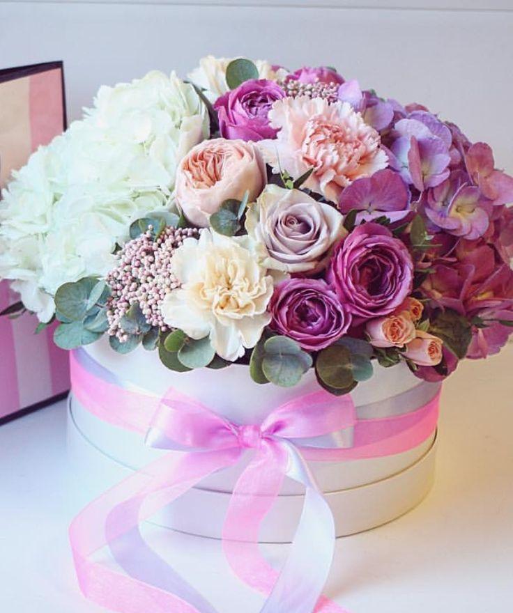 Открытка с днем рождения коробка цветов