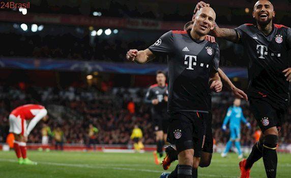 Liga dos Campeões: Arsenal leva 5 gols do Bayern e cai nas oitavas pela 7ª vez