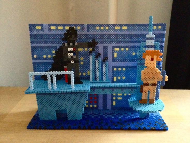 3D Star Wars scene perler beads by Kyle McCoy
