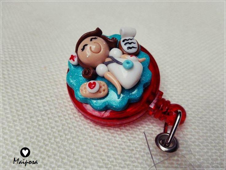 Portagafete personalizado para enfermería