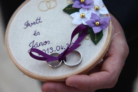 """#Filc esküvői, eljegyzési gyűrűtartó """"gyűrűpárna BUGACesGUBAC, meska.hu #ring #pillow"""