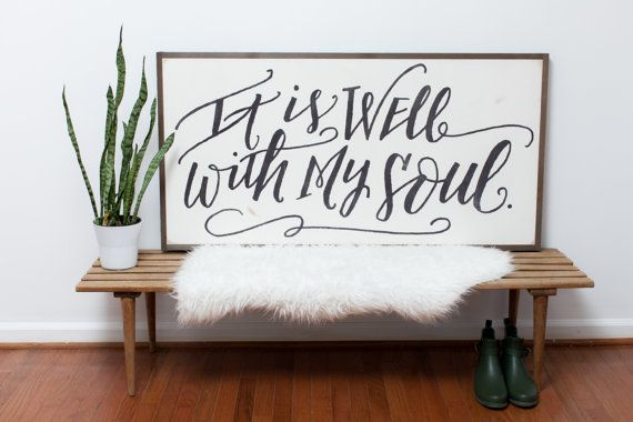 It Is Well {Handlettered} 4x2