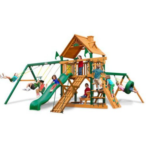 Commercial Playground Kids Swing Slide Climbing Frame Outdoor Children House Gym #GorillaPlaysets