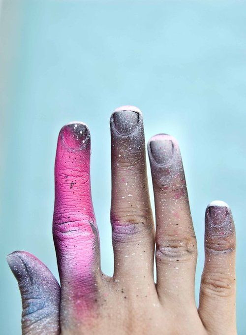 #pink #blue #white #paint #hand
