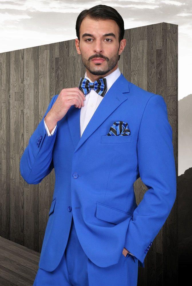 High quality custom formal dress, Mens Suit Design, male best man, two pieces (coat + trousers), royal blue suit