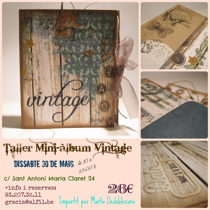 Taller Vintage, el dissabte 30 de maig, amb Martadedoblecara