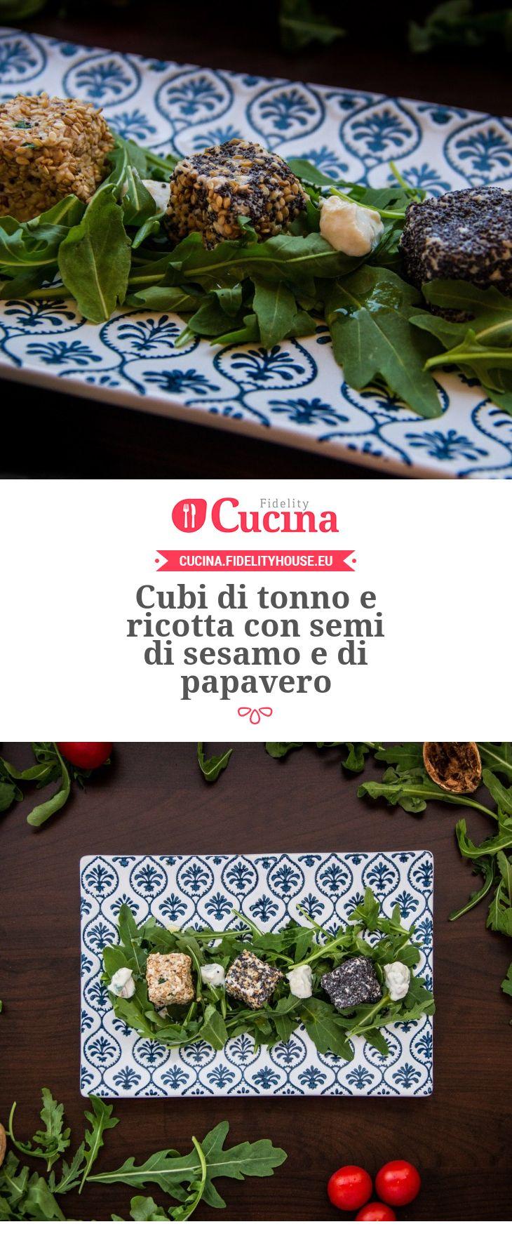 Cubi di #tonno e #ricotta con semi di sesamo e di papavero della nostra utente Fabiola. Unisciti alla nostra Community ed invia le tue ricette!