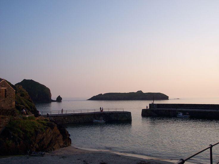Mullion Cove at sunset. #Cornwall