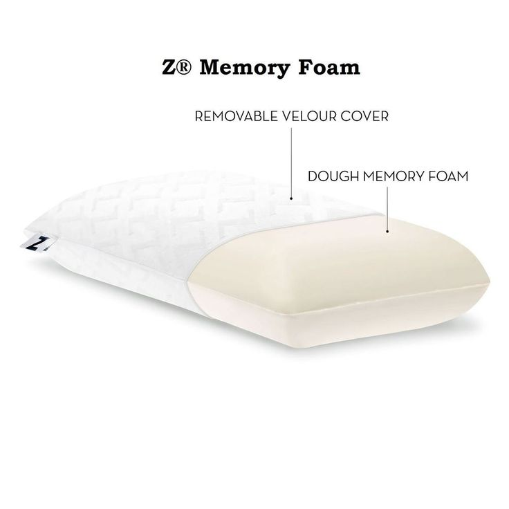 details about memory foam molded plush high loft king size pillow velour washable cover soft