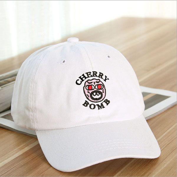 New Ulzzang Korean Face Embroidered Baseball Cap Skateboard Hat Hip Hop Couple Of Men And Women Outdoors Snapback Caps
