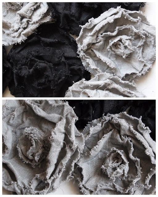 DIY: Linen flower brooches