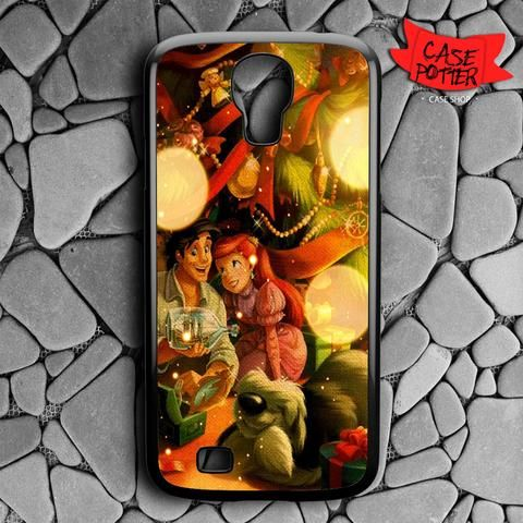 Chrismast With Little Mermaid Samsung Galaxy S4 Black Case