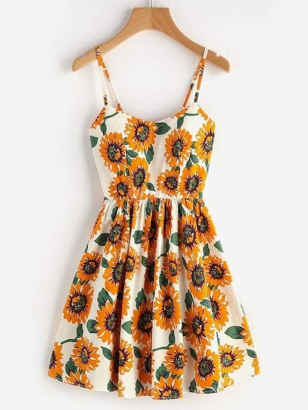 SheinShein Plus Floral Print Cami Dress