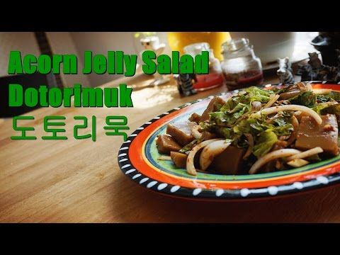 Acorn Jelly Salad│Dotorimuk│도토리묵 무침 Kimchi Head - YouTube