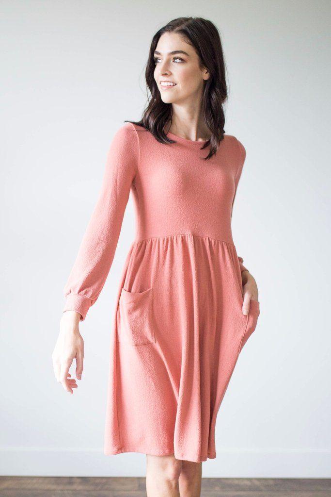 Alexis Dress in Mauve - Nursing Friendly!