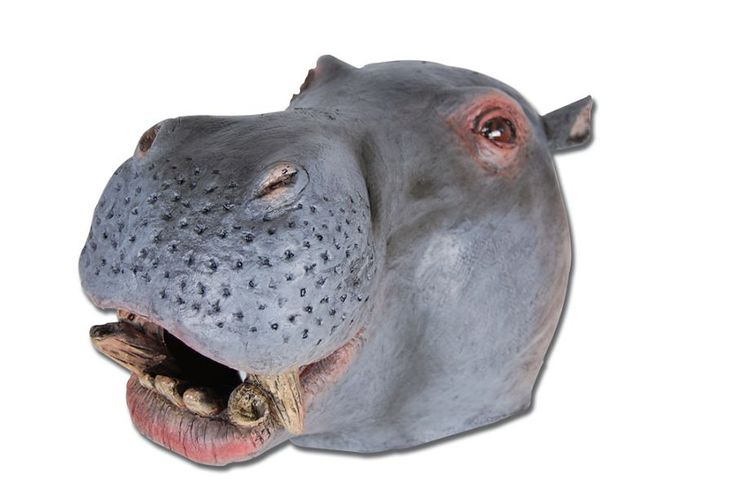 Hippo Rubber Overhead Mask (Rubber Masks) - Unisex - One Size http://wonderland-fancy-dress.com.au/