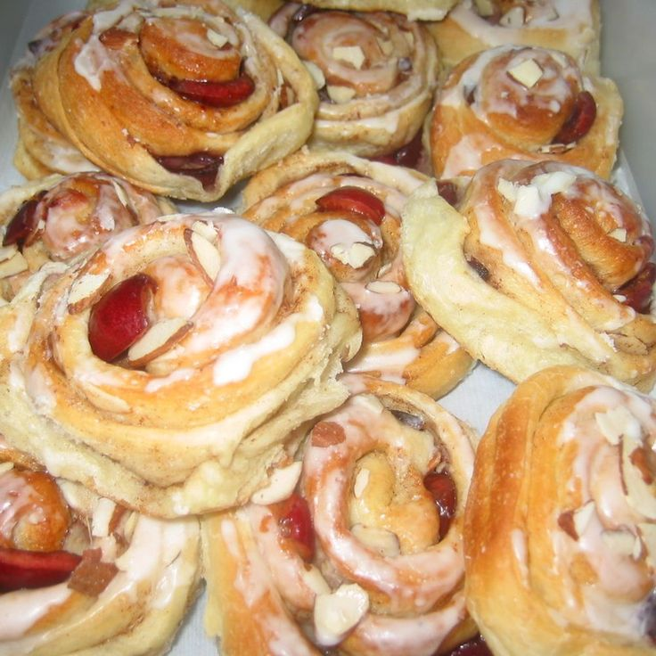 Cherry-Almond Cinnamon Buns Recipe on Food52 recipe on Food52
