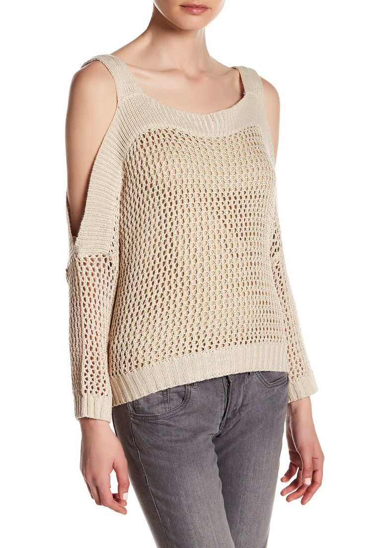 Romeo & Juliet Couture Knit Cold Shoulder Sweater