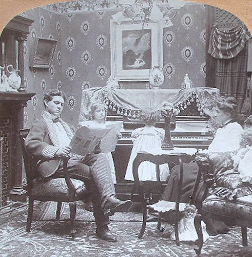 """A pleasant evening at home 1890's"""