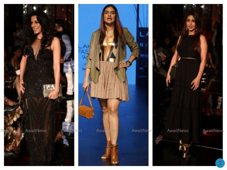 Krishika Lulla,Pooja Bedi And Sona Mohapatra As Guest At LFW 2017