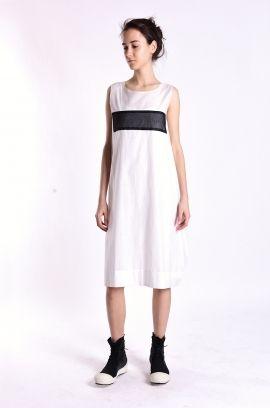 sleeveless dress with minus   Adelina Ivan Studio