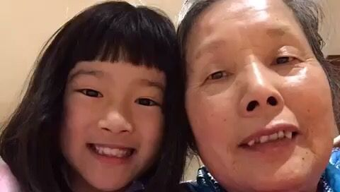 Xiaobao and her grandma